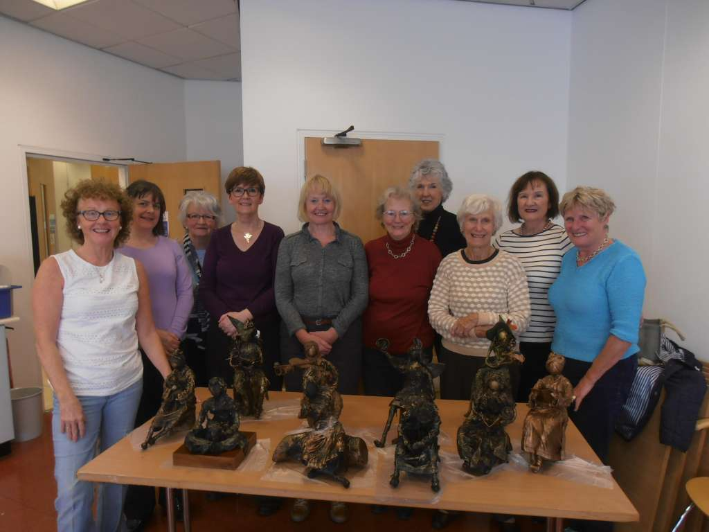 Sperrin Arts Group, Omagh enjoys an Urney Creations Experience at The Alley, Strabane.